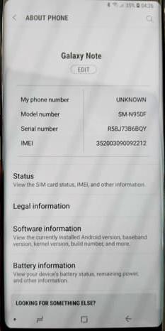 IMEI Samsung Galaxy Note 9 - Tips and Tricks - UnlockPlus Blog